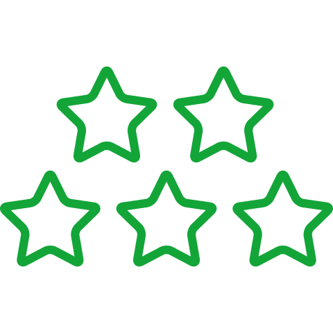 five-stars-outlines